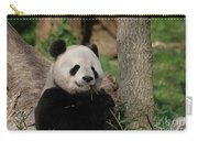 Adorable Giant Panda Eating A Shoot Of Bamboo Carry-all Pouch