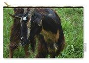 Adorable Goat In A Field With Thick Green Grass Carry-all Pouch