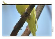 Adorable Little Yellow Parakeet In A Tree Carry-all Pouch