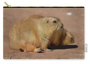 Adorable Pair Of Chubby Black Tailed Prairie Dogs Carry-all Pouch