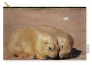 Adorable Pair Of Prairie Dogs Cuddling Together Carry-all Pouch