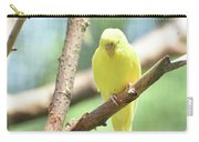 Adorable Yellow Budgie Parakeet Relaxing In A Tree Carry-all Pouch