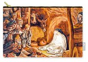 Adoration Of The Shepherds Nativity Carry-all Pouch