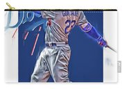 Adrian Gonzalez Los Angeles Dodgers Oil Art Carry-all Pouch