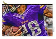 Adrian Peterson Minnesota Vikings Art Carry-all Pouch