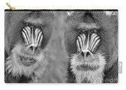 Adult Male Mandrills Black And White Version Carry-all Pouch