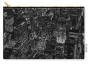 Aerial New York City Skyscrapers Bw Carry-all Pouch