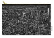 Aerial New York City Sunset Bw Bw Carry-all Pouch