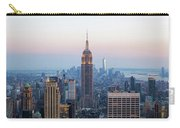 Aerial Night View Of Manhattan Skyline In New York Carry-all Pouch