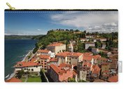 Aerial Of Piran Slovenia On Gulf Of Trieste Adriatic Sea With St Carry-all Pouch
