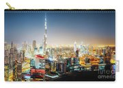Aerial Panorama View Of Dubai By Night Carry-all Pouch