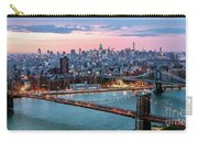 Aerial Panoramic Of Midtown Manhattan At Dusk, New York City, Us Carry-all Pouch