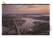 Aerial Seattle View Along Interstate 5 Carry-all Pouch