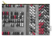 Aerial View Lot Of Vehicles On Parking For New Car.  Carry-all Pouch