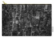 Aerial View Midtown Manhattan Nyc Bw Carry-all Pouch