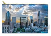 Aerial View Of Charlotte City Skyline At Sunset Carry-all Pouch by Alex Grichenko