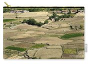 Aerial View Of Green Ladakh Agricultural  Landscape Carry-all Pouch