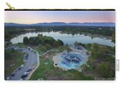 Aerial View Of Lake Balboa Park  Carry-all Pouch