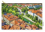 Aerial View Of Ljubljana Green River Carry-all Pouch