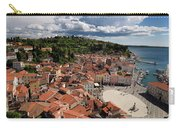 Aerial View Of Piran Slovenia On The Adriatic Sea Coast With Har Carry-all Pouch