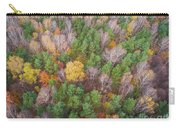 Aerial View Of The Forrest With Different Color Trees.  Carry-all Pouch