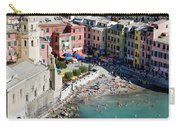 Aerial View Of Vernazza, Cinque Terre, Liguria, Italy Carry-all Pouch