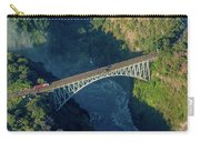 Aerial View Of Victoria Falls Suspension Bridge Carry-all Pouch