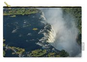 Aerial View Of Victoria Falls With Bridge Carry-all Pouch