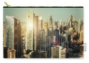 Aerial View Over Dubai's Towers At Sunset.  Carry-all Pouch
