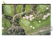 Aerial View Over Golf Field In Poland. Summer Time. Carry-all Pouch