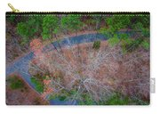 Aerial View Over Wooded Forest And Road Carry-all Pouch