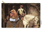 Afghan Hound-at The Tavern Canvas Fine Art Print Carry-all Pouch