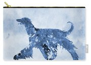 Afghan Hound-blue Carry-all Pouch