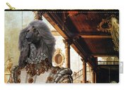 Afghan Hound-capriccio Of Colonade And The Courtyard Of A Palace Canvas Fine Art Print Carry-all Pouch