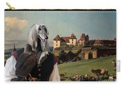 Afghan Hound-falconer And Castle Canvas Fine Art Print Carry-all Pouch