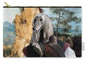 Afghan Hound-falconer And Windmill Canvas Fine Art Print Carry-all Pouch