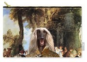 Afghan Hound-the Winch Canvas Fine Art Print Carry-all Pouch