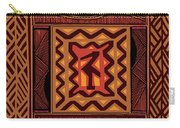 African Collage Rust Carry-all Pouch