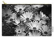African Daisies In Black And White Carry-all Pouch