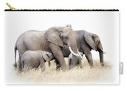 African Elephant Group Isolated Carry-all Pouch