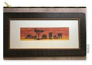 African Elephant Tribal Art Carry-all Pouch