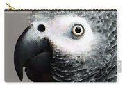 African Gray Parrot Art - Softy Carry-all Pouch