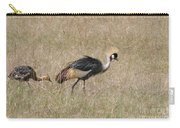 African Grey Crown Crane Carry-all Pouch