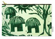African Huts Carry-all Pouch by Caroline Street