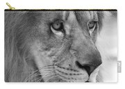 African Lion #8 Black And White Carry-all Pouch
