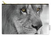 African Lion #8 Black And White  T O C Carry-all Pouch