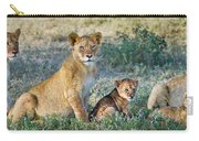 African Lion Panthera Leo Family Carry-all Pouch
