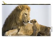 African Lion Panthera Leo Seven Carry-all Pouch