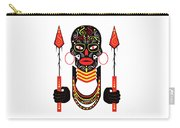African Motive Background With Ornament Details And Spears  Carry-all Pouch