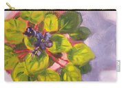 African Violet Still Life Oil Painting Carry-all Pouch